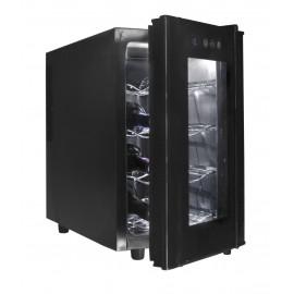 23L 8 garrafas de refrigerador elétrico preto.
