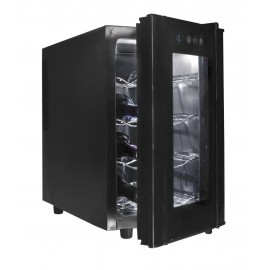 Armario refrigerador eléctrico negro 23L de 8 botellas.