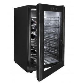 Armario refrigerador eléctrico negro 65L de 28 botellas.