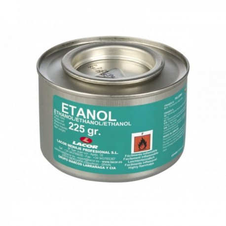 Lata gel combustible ETANOL.(225gr)