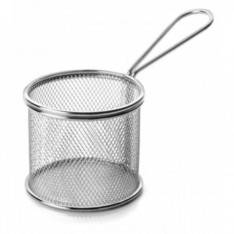 Mini cestillo redondo de rejilla para servir tapa.