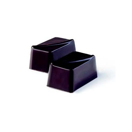 Molde bombón rectangular con detalle de diseño.