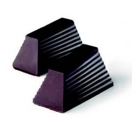 Molde de forma de prisma de chocolate, pirâmide truncada.