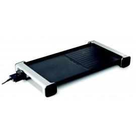 Plancha electríca portátil de aluminio antiadherente.