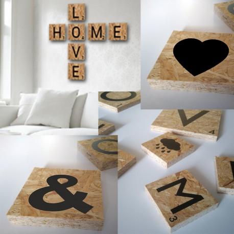 Letras decoraci n de madera letras scrabble letras decoraci n tipo scrabble en madera - Letras scrabble madera ...
