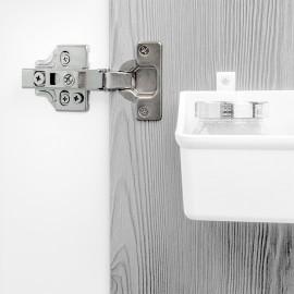 20 conjuntos (reto) dobradiça de panela X91N, abertura de 100o, suplemento de rosca banhado a níquel