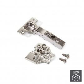 20 conjuntos (reta) articulação da panela X91, fechamento macio, abertura de 100o, suplemento euro banhado a níquel
