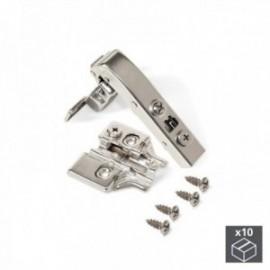 10 conjuntos (Angular 90o) Dobradiça da panela X91, fechamento macio, braço angular 90o, suplemento de rosca banhado a níquel