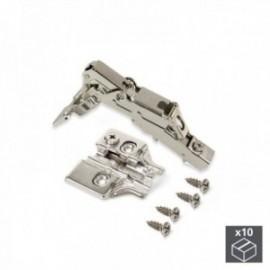 10 conjuntos (reto) articulação da panela X91, fechamento macio, abertura de 165o, suplemento de rosca banhado a níquel