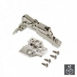 2 conjuntos (reto) dobradiça da panela X91, fechamento macio, abertura de 165o, suplemento de rosca banhado a níquel