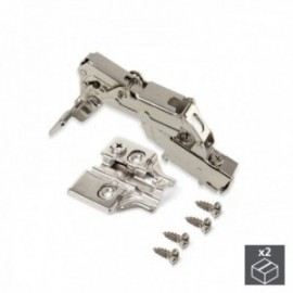 2 conjuntos (Supercodo) Dobradiça da panela X91, fechamento macio, abertura de 165o, suplemento de rosca banhado a níquel