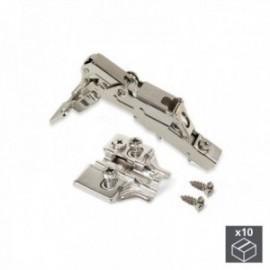 10 conjuntos (reta) articulação da panela X91, fechamento macio, abertura de 165o, suplemento euro banhado a níquel