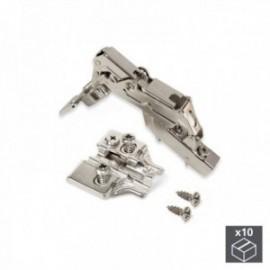 10 conjuntos (Cotovelo) Articulação pan X91, fechamento macio, abertura de 165o, suplemento banhado a níquel euro