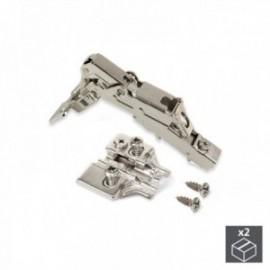 2 conjuntos (reta) articulação da panela X91, fechamento macio, abertura de 165o, suplemento banhado a níquel euro