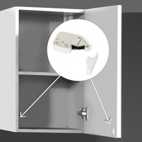 10 unidadess (-) de Cierre de vaivén Fast Latch para muebles Blanco