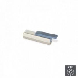 10 unidades (base reta) de pistão amortecendo para portas articuladas suaves Mildy Matt Nickel