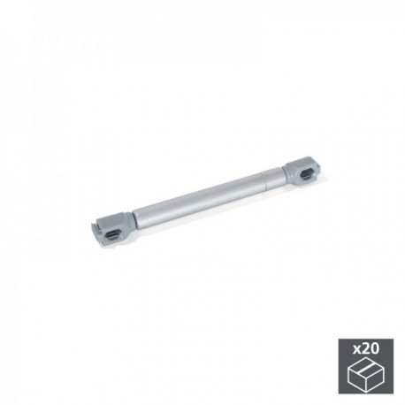 20 unidadess (6 kg - 100 mm) de Pistón a gas para puertas abatibles Gris metalizado