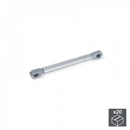 20 unidadess (12 kg - 100 mm) de Pistón a gas para puertas abatibles Gris metalizado
