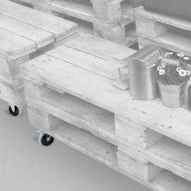 Deslize 2 rodas com placa de montagem, D.100 mm (x100 mm) Cinza