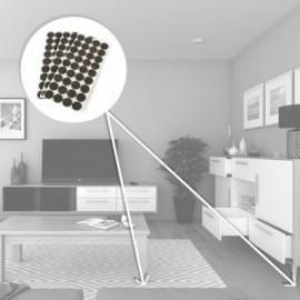Protectores de fieltro adhesivo para muebles (diam: 24 mm) Marrón