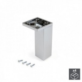 Pie regulable para mueble Smartfeet (H 100 mm Esquina) Cromado