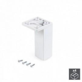 Pé ajustável para móveis Smartfeet (Canto H 100 mm) Branco