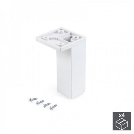 Pie regulable para mueble Smartfeet (H 100 mm Esquina) Blanco