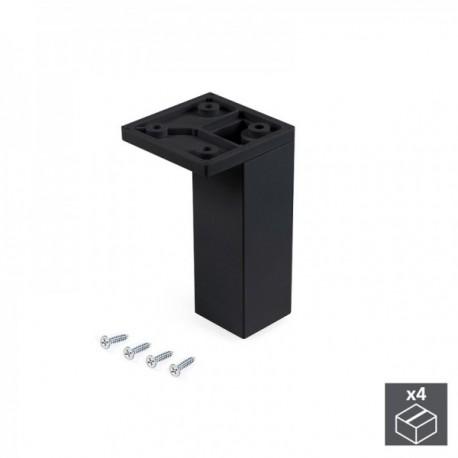 Pie regulable para mueble Smartfeet (H 100 mm Esquina) Negro