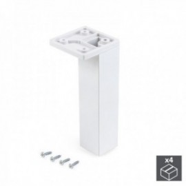 Pie regulable para mueble Smartfeet (H 140 mm Esquina) Blanco