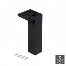 Pé ajustável para móveis Smartfeet (Canto H 140 mm) Preto