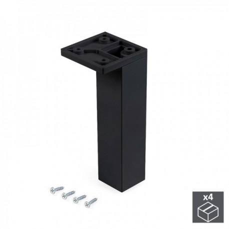 Pie regulable para mueble Smartfeet (H 140 mm Esquina) Negro