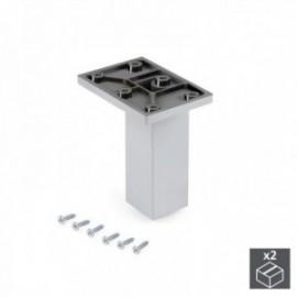 Pé ajustável para móveis Smartfeet (H 100 mm Central) Cromados