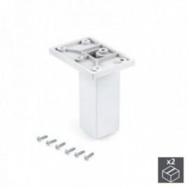 Pé ajustável para móveis Smartfeet (H 100 mm Central) Branco