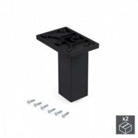 Pé ajustável para móveis Smartfeet (H 100 mm Central) Preto