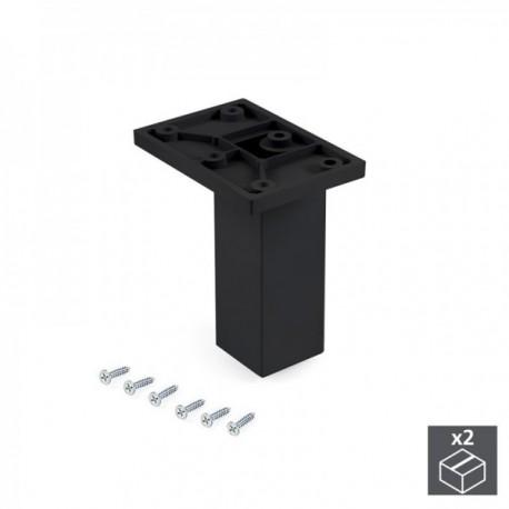 Pie regulable para mueble Smartfeet (H 100 mm Central) Negro