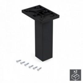 Pé ajustável para móveis Smartfeet (H 140 mm Central) Preto