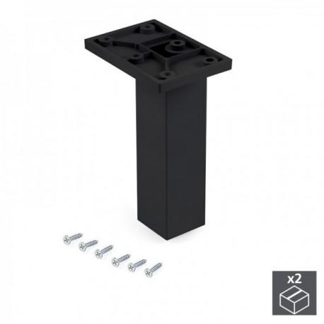 Pie regulable para mueble Smartfeet (H 140 mm Central) Negro