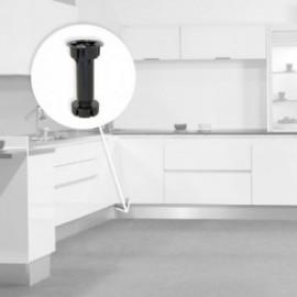 10 unidadess (H 120 mm) de Pie nivelador Bone con base premontada para mueble Negro