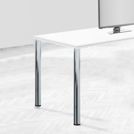 Patas para mesa, D. 60 mm, Acero (diam: 60 x 710 mm) Níquel satinado