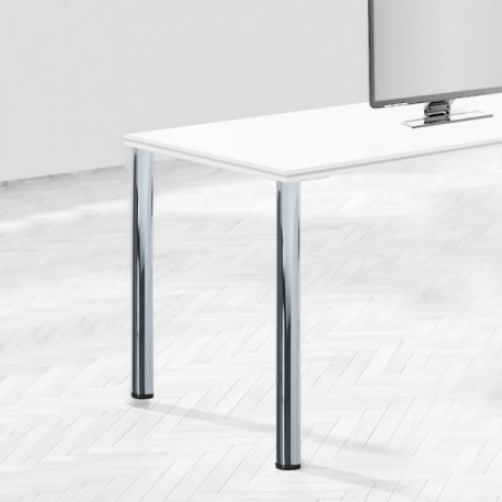 Patas para mesa, D. 60 mm, Acero (diam: 60 x 870 mm) Cromado