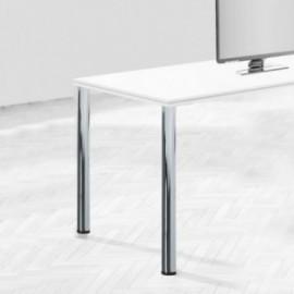Pernas de mesa, D. 60 mm, Aço (diam: 60 x 870 mm) Níquel de cetim