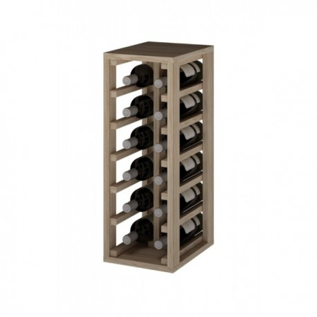 BOTELLERO DE MADERA DE PINO para 12 Botellas color Roble Natural GODELLO