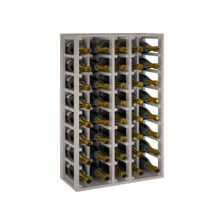 BOTELLERO DE MADERA DE ROBLE PARA BOTELLAS CHANPAGNE MÁGNUM para 40 Botellas champagne 1.5 L color Pino Blanco GODELLO