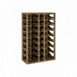BOTELLERO DE MADERA DE ROBLE PARA BOTELLAS CHANPAGNE MÁGNUM para 40 Botellas champagne 1.5 L color Pino Roble claro GODELLO