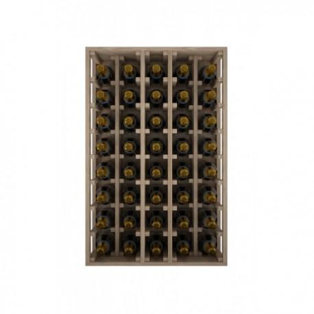 BOTELLERO DE MADERA DE ROBLE PARA BOTELLAS CHANPAGNE MÁGNUM para 40 Botellas champagne 1.5 L color Pino oscuro GODELLO