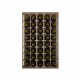 BOTELLERO DE MADERA DE ROBLE PARA BOTELLAS CHANPAGNE MÁGNUM para 40 Botellas champagne 1.5 L color Pino Negro GODELLO