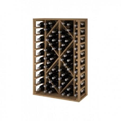Botellero de madera para 68 Botellas color Pino Roble claro GODELLO