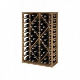 Garrafa de madeira para 68 garrafas de pinheiro escuro GODELLO