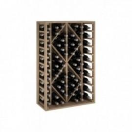 Botellero de madera para 68 Botellas color Roble Natural GODELLO