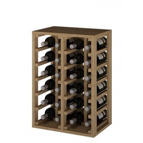 BOTELLERO DE MADERA DE PINO para 24 Botellas color Roble Natural GODELLO